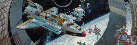 Robert McCall's Earth Orbit 98 reaches record price of $245,000
