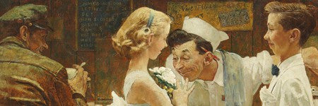 Rockwell's After the Prom at $12m in landmark American art auction