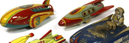 Tin space toys propelled to $5,500 in Yoku Tanaka auction