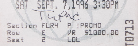 Tupac's boxing ticket from night of murder makes $24,500