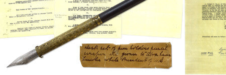 Abraham Lincoln used pen will sell on February 22