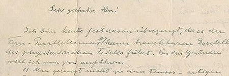 Albert Einstein autographed letters to auction for $80,000?