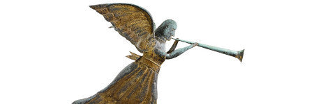 Will Angel Gabriel weathervane top folk art sale?