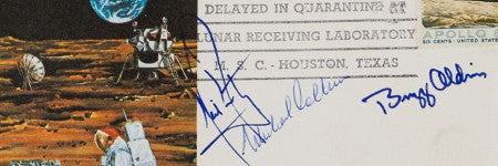 Apollo 11 quarantine cover to star in space sale