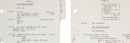 Apollo 11 landing module pages to highlight space auction