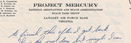 Astronaut Gus Grissom letter valued at $10,000