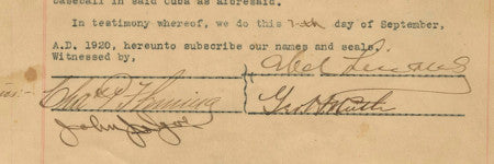 Babe Ruth's 1920 Cuba contract sells for $119,000