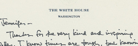 Barack Obama handwritten note to make $15,000?