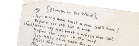 Bob Dylan's Blowin' in the Wind lyrics net $324,500