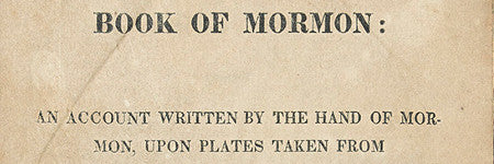 Book of Mormon first edition to auction at Swann