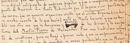 Jorge Luis Borges manuscript to sell at Heritage