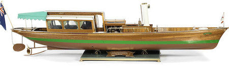 Steam launch scale model offered at Bonhams