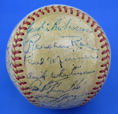 Brooklyn Dodgers autographed baseball features in online auction