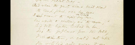 Elizabeth Barrett Browning notebook to sell at Bonhams