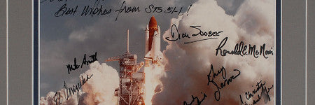 Challenger crew signed photograph to top $15,000?