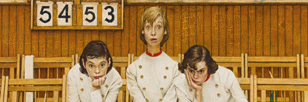 Norman Rockwell's Cheerleaders (Losing the Game) to auction