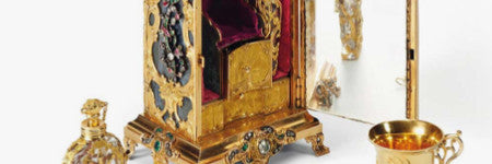 British gold necessaire clock will star in December sale