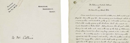 Conan Doyle's Black Peter manuscript to highlight auction at Christie's