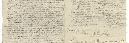 William Dampier handwritten letter to make $123,000?