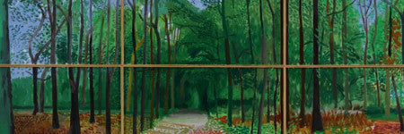 David Hockney's Woldgate Woods sets new artist record