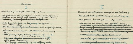Dylan Thomas manuscript notebook valued at up to $235,000
