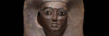 Egyptian wooden mummy mask makes $150,000