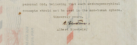 Albert Einstein's God letter valued at $200,000