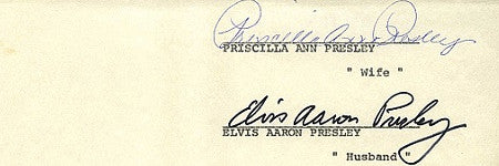 Elvis and Priscilla Presley's divorce papers go for $26,000
