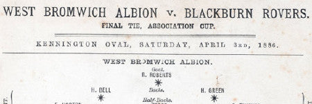1886 FA Cup Final programme to auction at Graham Budd