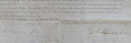 General Custer signed document offered at One of a Kind Collectibles