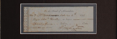 George Washington signed cheque stars in February 10 sale