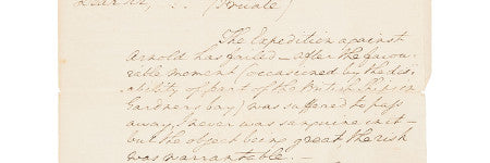 George Washington handwritten letter achieves $40,000 on June 28