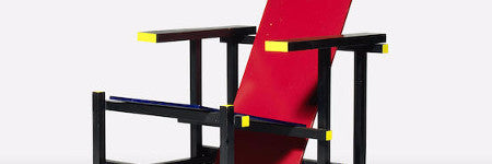 Gerrit Rietveld's Red/Blue chair will sell at Bonhams