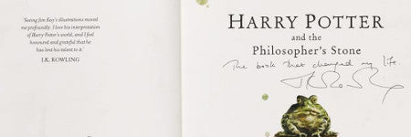 JK Rowling signed copy of Philosopher's Stone to auction