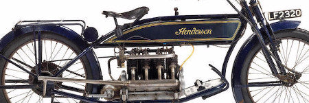 1914 Henderson Model C Four motorcycle sold at Bonhams