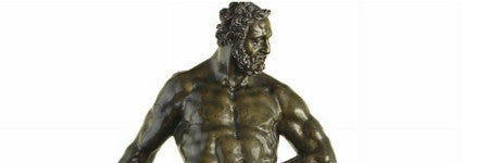 Tetrode's Hercules Pomarius bronze to auction on January 27