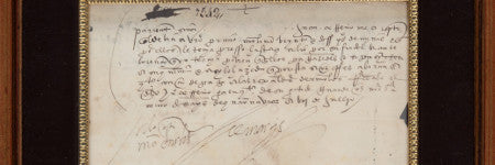 Hernan Cortes signed letter offered at Heritage