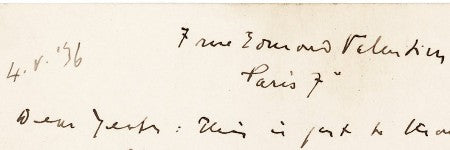 James Joyce autographed letter to feature in PBA Galleries sale