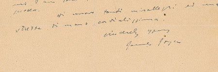 James Joyce's McCormack letter could exceed $8,000