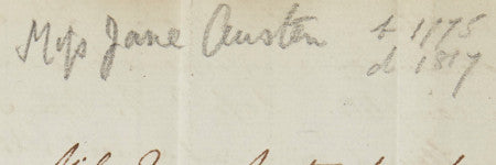 Jane Austen handwritten letter to make $130,000