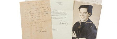 JFK WWII letters valued in excess of $10,000