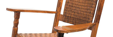 JFK wooden rocking chair offered at RR Auction