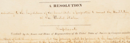 Abraham Lincoln 13th amendment to lead US history auction