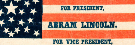 Abraham Lincoln campaign flag sets new record