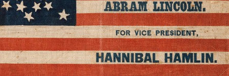 Lincoln presidential campaign flag to exceed $20,000 at Heritage