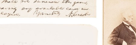 Abraham Lincoln handwritten letter fragment to exceed $10,000
