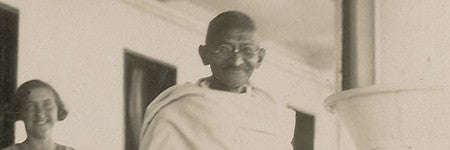 Mahatma Gandhi signed photograph to auction on May 14