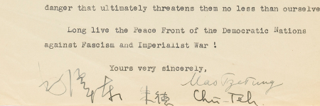 Mao Zedong's letter to Clement Attlee beats estimate by 303%