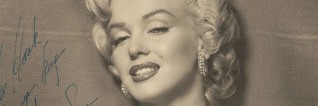 Marilyn Monroe signed photograph stands at $15,000 in online sale