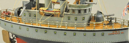 Model HMS Edward VII headlines at Bertoia